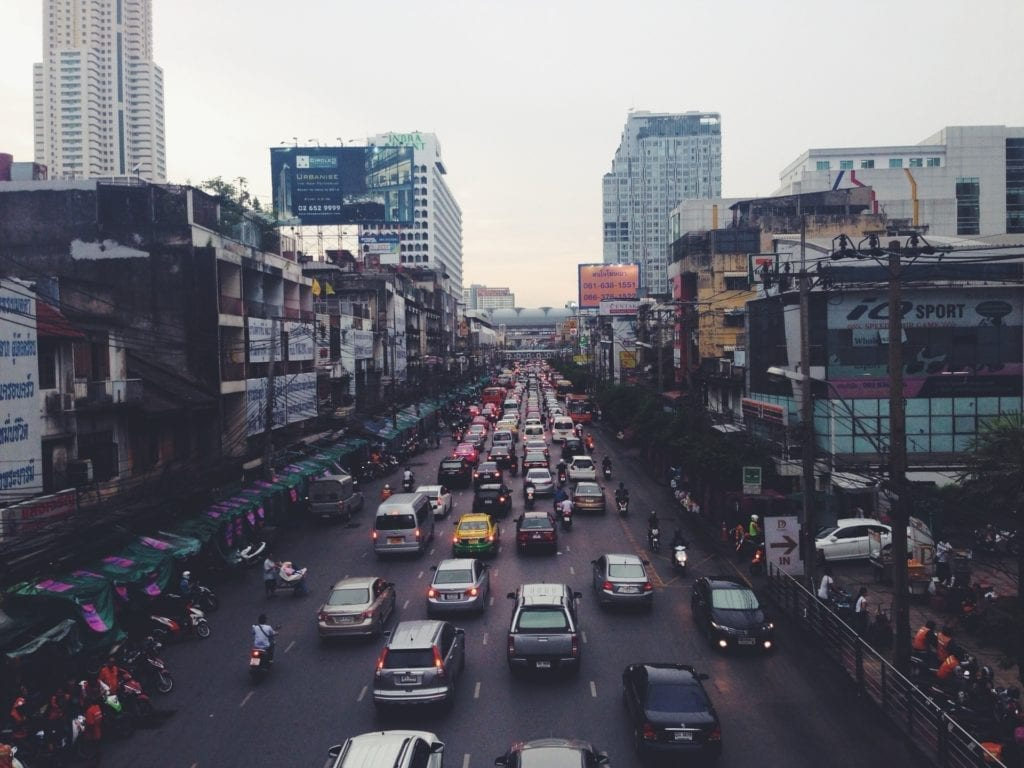 traffic in city congested