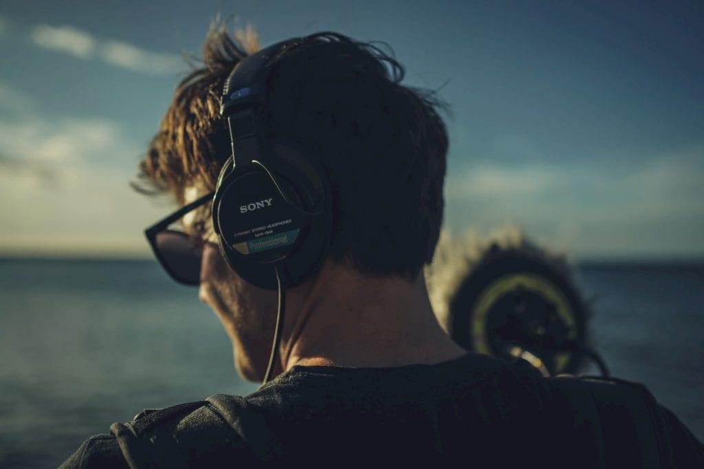sound recordist on set short film