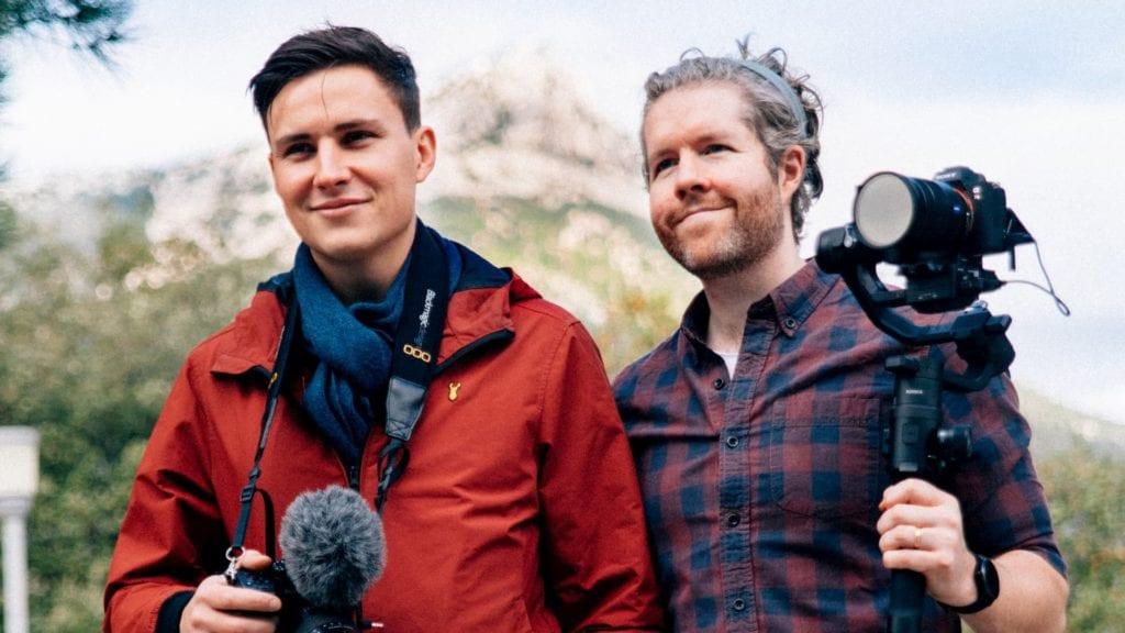 two men sound recording short film