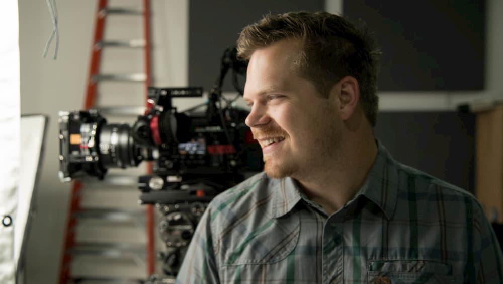 william dejessa dp in front of filmmaking camera