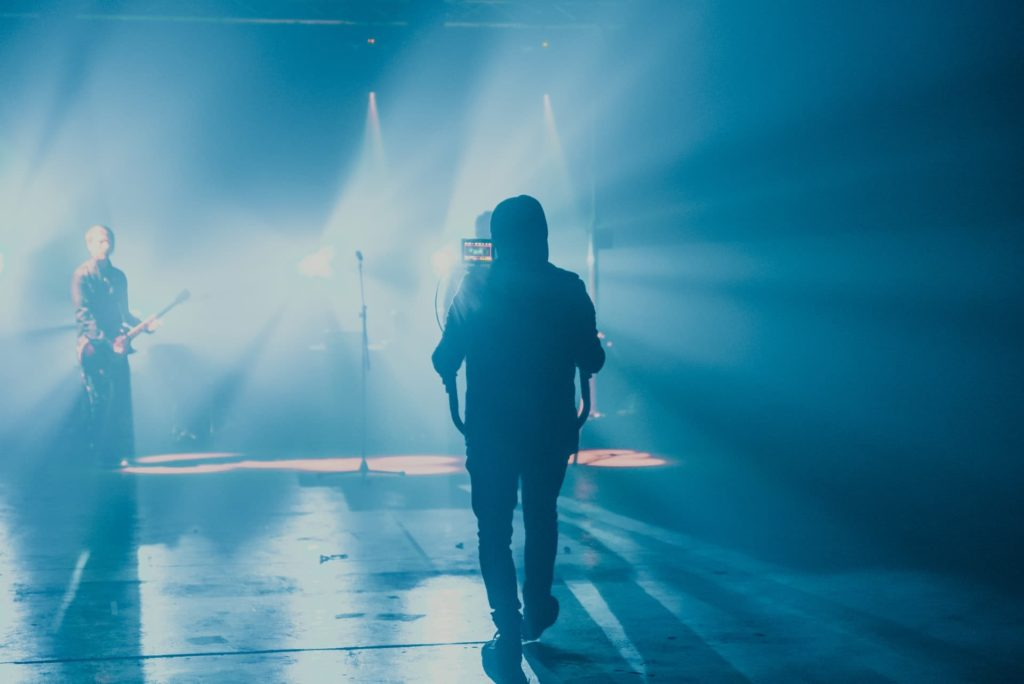 indie filmmaker music video set