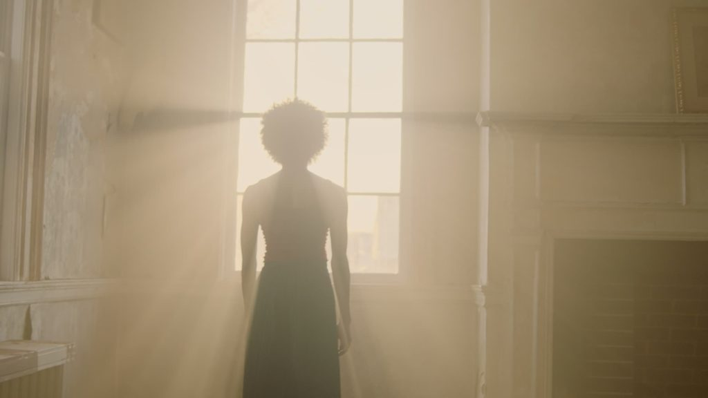 katie sadler indie film still window light woman