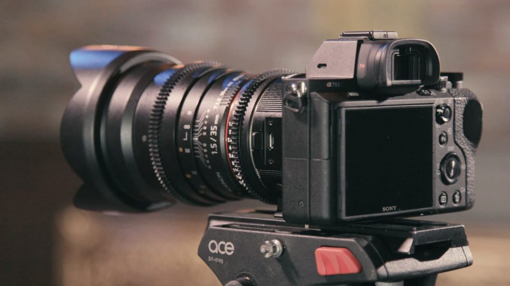 sony a7s camera with lens for independent film