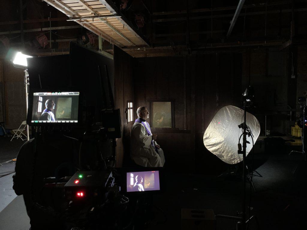 jonathan chen on set short film filmmaker priest the film fund