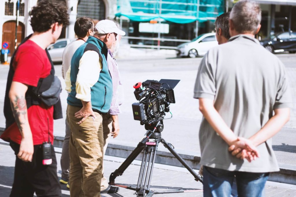 filmmakers film crew on street with camera the film fund