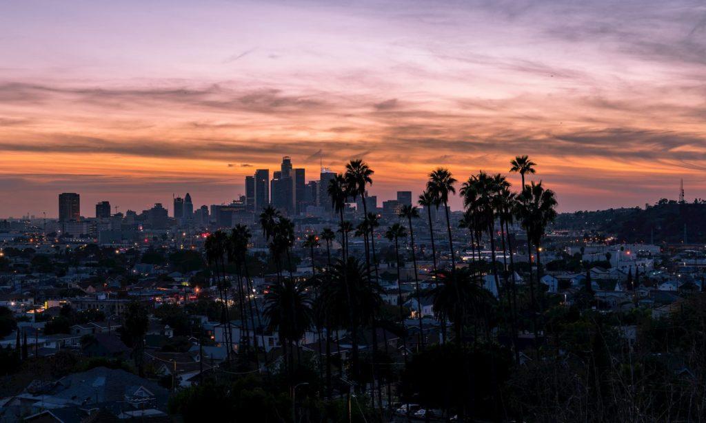 los Angeles skyline hollywood