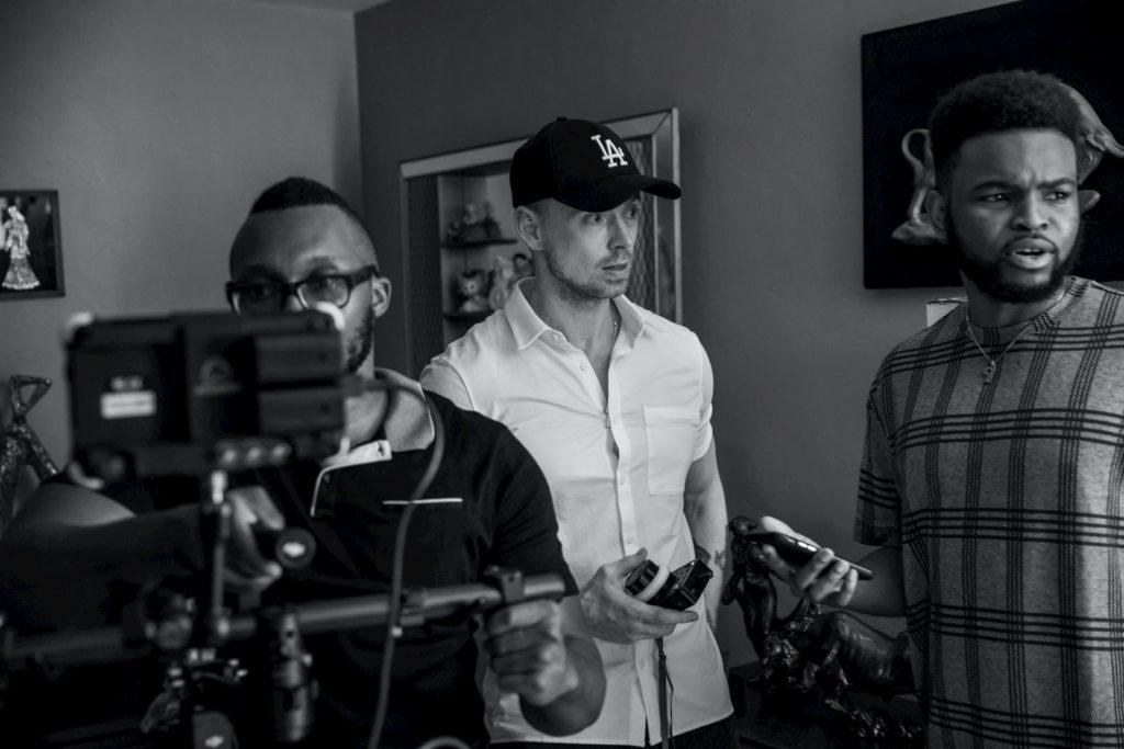 Film director on set