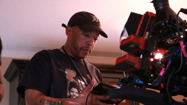 malcolm johnson filmmaker on set with red camera the film fund
