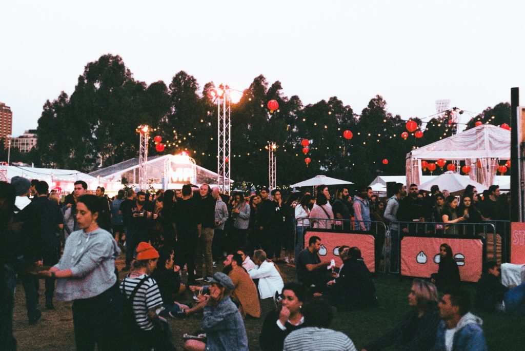 crowd at a festival the film fund