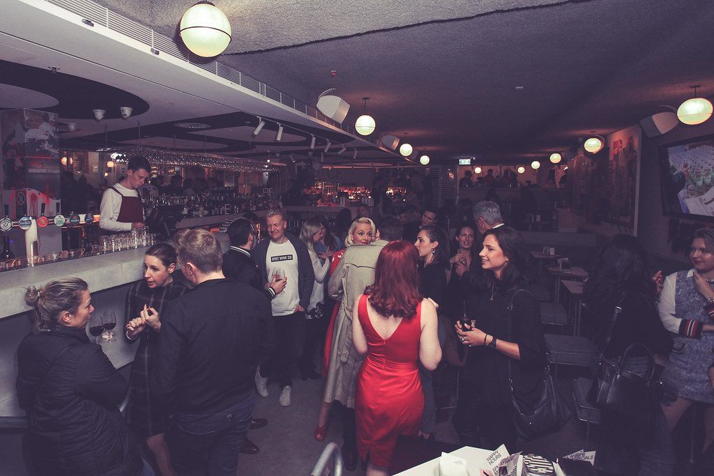 people gathered at wrap party the film fund